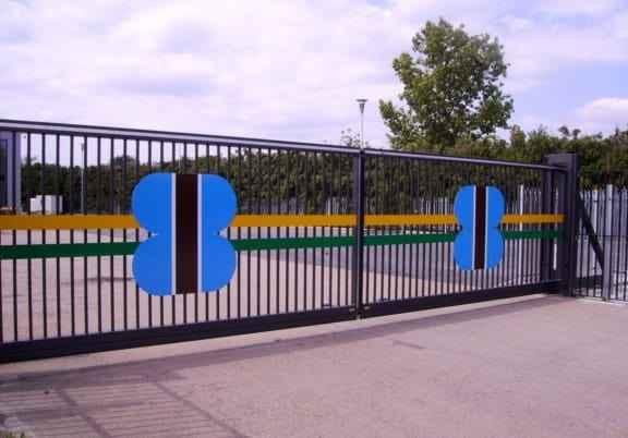 Раздвижные ворота промышленные