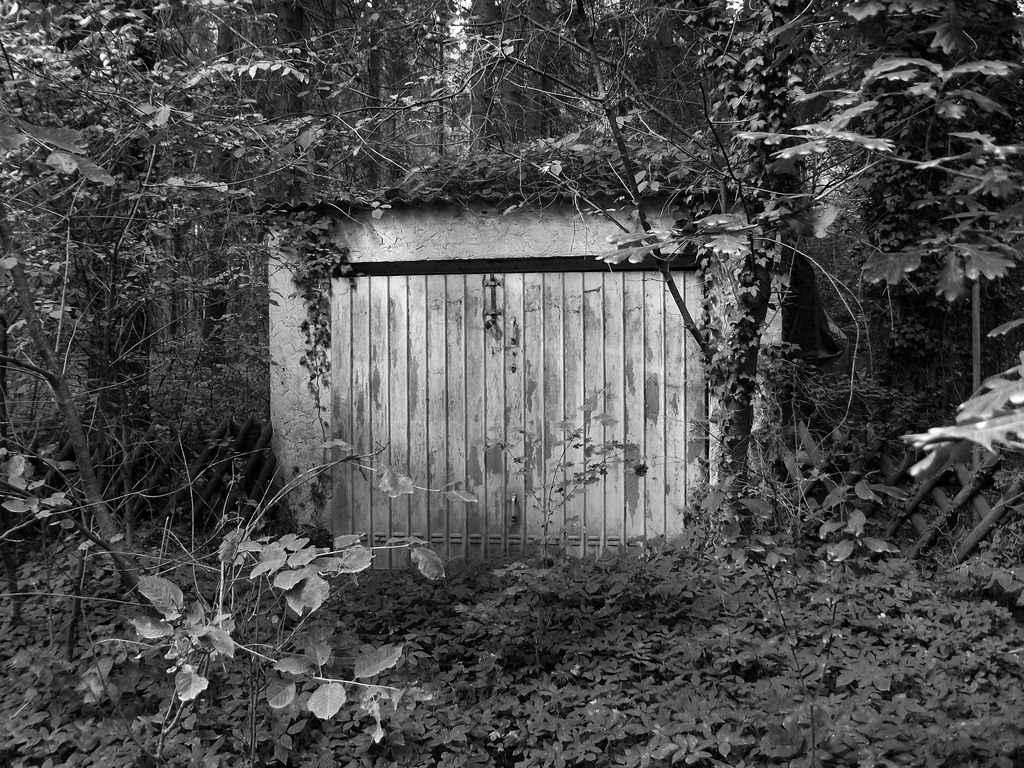 Ворота в старый гараж
