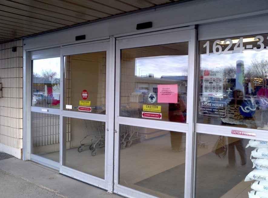 Автоматические двери для магазинов