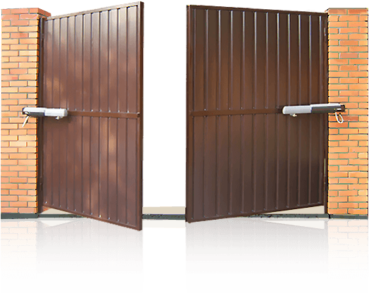 Распашные автоматизированные ворота