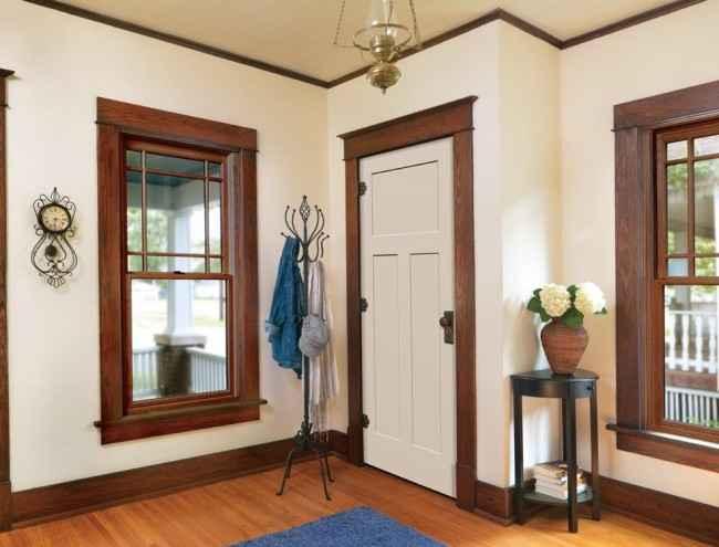 Гармоничный подбор цвета обрамления двери