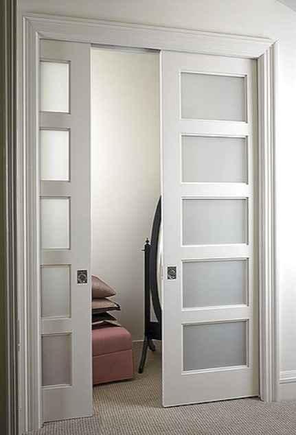 Раздвижная межкомнатная дверь белая