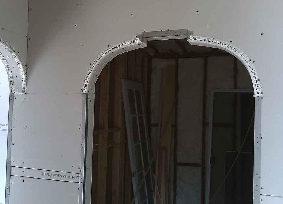 Монтаж дверного проёма из гипсокартона