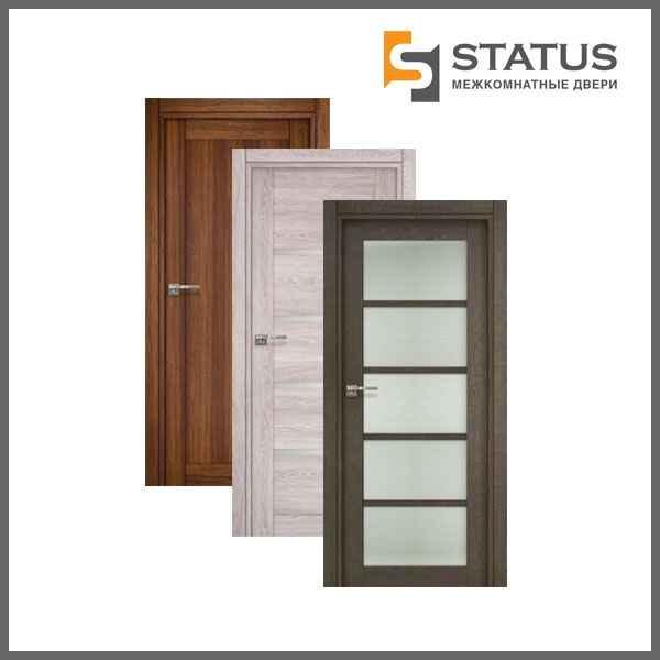 Используемые материалы дверей Статус