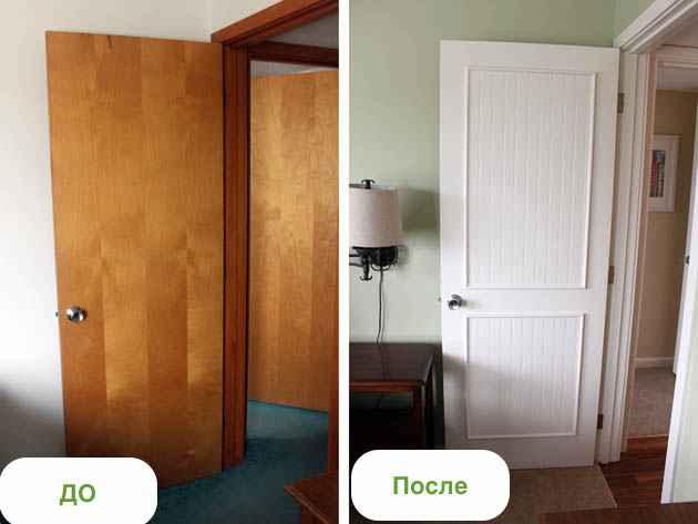 Как сделать двери без затрат своими руками