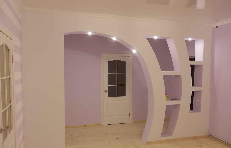 Фотообзор арок из гипсокартона