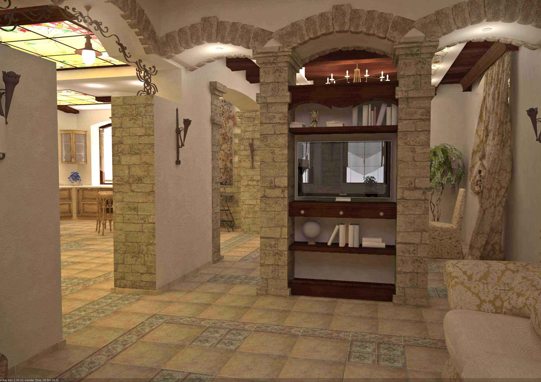 Отделка арки в старой квартире декоративным камнем