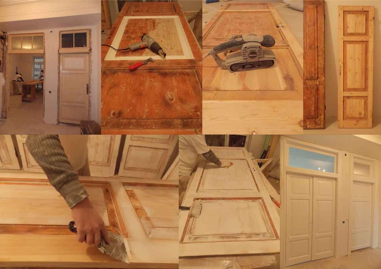 Реставрация старой деревянной двери
