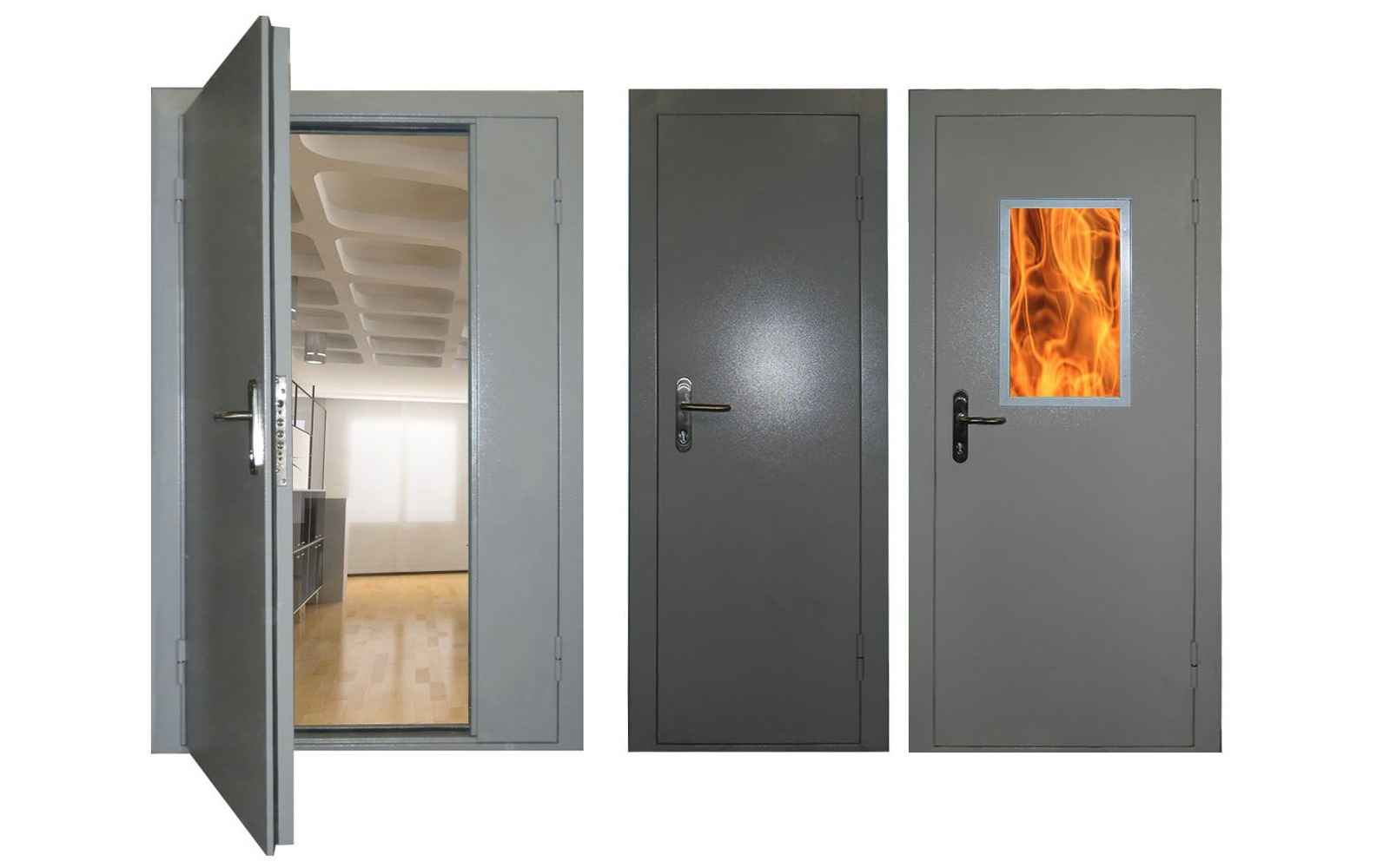 Установка противопожарных дверных конструкций