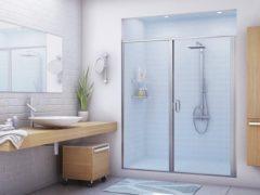 Выбираем стеклянные двери для ванной и туалета