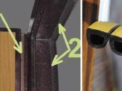 Уплотнитель для металлических входных дверей: инструкция по выбору