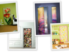 Декорирование межкомнатных дверей: способы и материалы