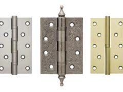 Виды и типы дверных петель для межкомнатных дверей