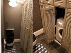 Варианты дверей для шкафа в туалете