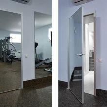 Межкомнатные двери с зеркалом: новые тенденции в стилях минимализма и хай-тек