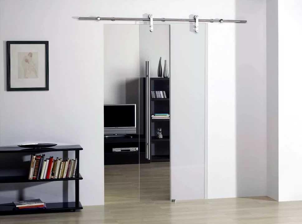 стеклянные двери для комнаты откатные