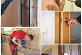 Как вставить межкомнатную дверь своими руками