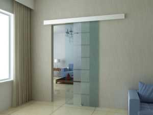 раздвижная стеклянная дверь межкомнатная одностворчатая