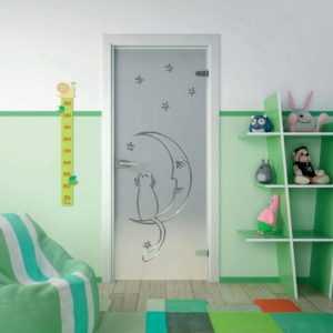стеклянные двери в детскую