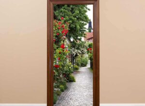 Использование фото на двери в интерьере