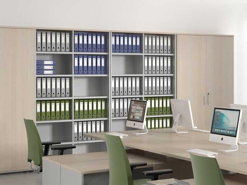Особенности офисных стеллажей